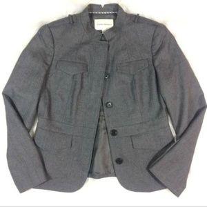 Banana Republic Gray Wool Blazer Jacket Military